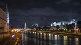 Жестикулируйте Timelapse снятое обваловки реки Москвы Россия акции видеоматериалы