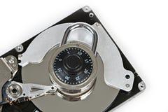 Жесткий диск и замок цифров Стоковые Изображения