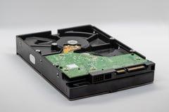 Жесткий диск компьютера на белой предпосылке стоковые изображения rf