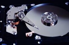 Жесткий диск компьютера открытый Стоковое Изображение