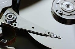 Жесткий диск компьютера открытый Стоковое фото RF