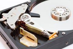 Жесткий диск на белой предпосылке Стоковая Фотография RF