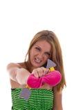 Жестокая девушка ломает сердце Стоковая Фотография RF