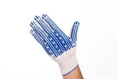 Жесты руки в перчатке Стоковое фото RF