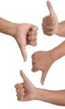 Жесты руки стоковое фото rf