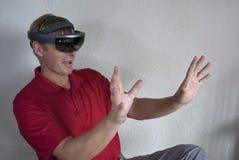 Жесты рукой, управляемый пристальный взгляд, указывая управляемое взаимодействие стоковое изображение rf