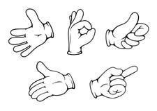 Жесты рукой людей Стоковые Фотографии RF