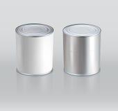 Жестяные коробки вектора реалистическо (Элемент для дизайна) иллюстрация вектора