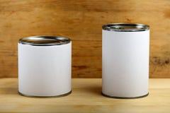 Жестяные коробки еды Стоковые Фото