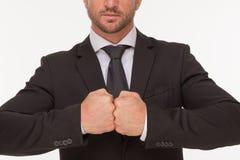 Жест бизнесмена с руками Стоковое Фото