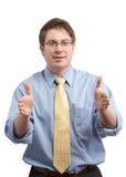 жест бизнесмена стоковые изображения rf