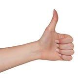 Жест большого пальца руки вверх Стоковые Изображения