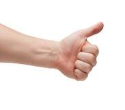 Жест большого пальца руки поднимающий вверх Стоковая Фотография