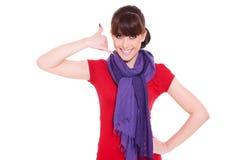 жест звонока делая мной женщину Стоковое Изображение RF
