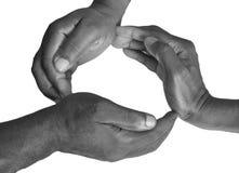 Жест пальцев и рук Стоковая Фотография