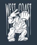 Жест рукой Бедр-хмеля Гая западного побережья знак рэпа Стоковое фото RF