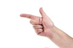 Жест рукой - покажите стоковые фотографии rf