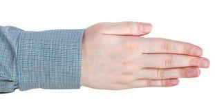 Жест рукой 5 прямой пальцев Стоковые Изображения