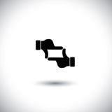 Жест рукой фотографа процесса принимать фото иллюстрация вектора
