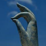Жест рукой Buddhas известный как Vitarka Mudra Стоковые Фото