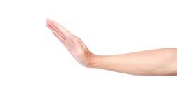 Жест стопа руки изолированный на белой предпосылке с Пэт клиппирования Стоковое Изображение RF