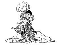 Желание волшебника Jin восточное иллюстрация штока