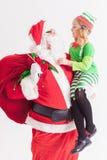 Желание 2016 рождества девушка маленький santa claus Говорить желания Стоковые Фотографии RF