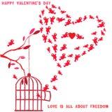 Желания и влюбленность валентинок Стоковое Изображение