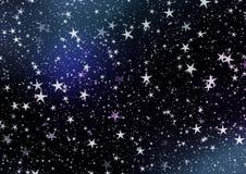 Желания рождества, звезды, предпосылка Стоковые Фотографии RF