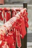 Желать ленты вися на виске Buhhist, Пекин, Китай Стоковые Изображения RF