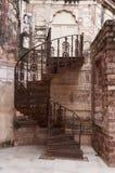 Железная лестница на форте Mehrangarh, Джодхпур, Индия Стоковая Фотография