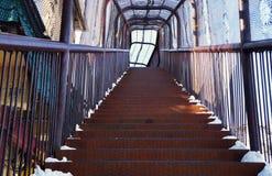 Железная лестница! Стоковые Изображения