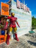 Железная модель человека для украшения на трассе 12 Стоковое Фото