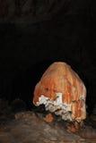 Железная окалина на образовании пещеры странном Стоковое Фото