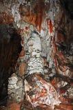 Железная окалина на образованиях пещеры Стоковые Фотографии RF