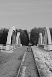 Железная дорога внутри к лесу Стоковые Фотографии RF