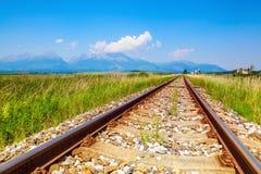 Железная дорога водит туристов к фантастическим ландшафтам Стоковое Изображение RF
