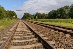 Железная дорога в Голландии Стоковая Фотография RF