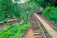 Железная дорога в лесе Стоковое Изображение