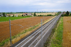 Железная дорога в северной Италии Стоковое Изображение RF