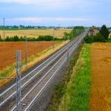Железная дорога в северной Италии Стоковая Фотография