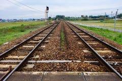 Железная дорога в сельской местности Стоковое Изображение RF