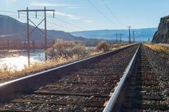 Железная дорога в солнечном дне, Вашингтон Стоковое Изображение RF
