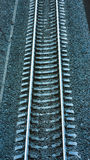 Железная дорога в лунном свете Стоковое Изображение RF