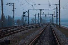 Железная дорога в wog стоковая фотография