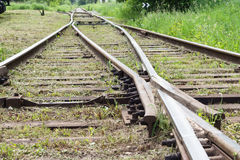 железная дорога Двиньте вперед! Стоковое Фото
