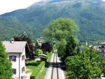 Железная дорога Италия деревни Беллуно Стоковая Фотография RF