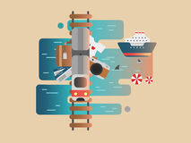 Железная дорога и круиз перемещения бесплатная иллюстрация
