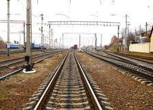 Железная дорога и поезда Стоковые Фото