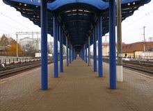 Железная дорога и поезда Стоковое Изображение